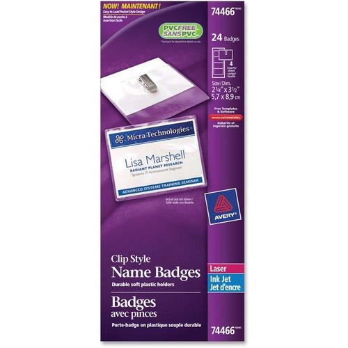 Avery® 74466 Laser/Inkjet Badge Insert - 24 / Pack
