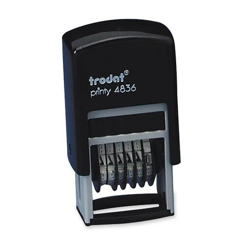 Trodat Printy Numbering Stamp - 6 BandsPlastic - 1 Each