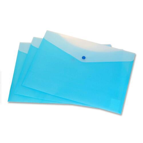 """VLB Letter Vinyl File Pocket - 8 1/2"""" x 11"""" - 2 Pocket(s) - Blueberry - 1 Each"""