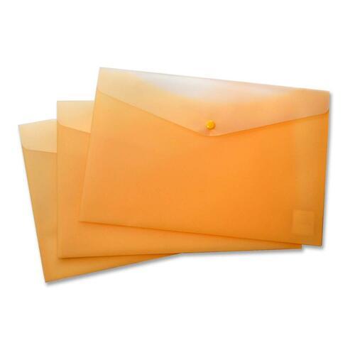 """VLB Letter Vinyl File Pocket - 8 1/2"""" x 11"""" - 2 Front & Back Pocket(s) - Polypropylene - Yellow - 1 Each"""
