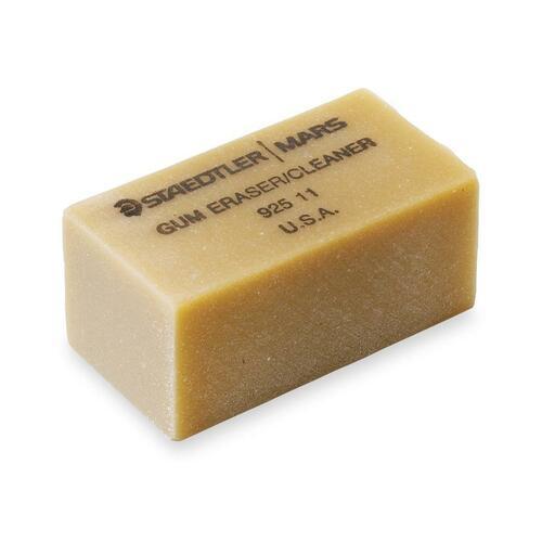 """Staedtler Art Gum Eraser - 2"""" (50.80 mm) Width x 1"""" (25.40 mm) Height x 0.75"""" (19.05 mm) Depth x - 1 Each - Smudge-free"""