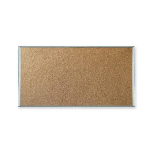 """Quartet Webco Bulletin Board - 18"""" (457.20 mm) Height x 24"""" (609.60 mm) Width - Cork Surface - Aluminum Frame - 1 Each"""