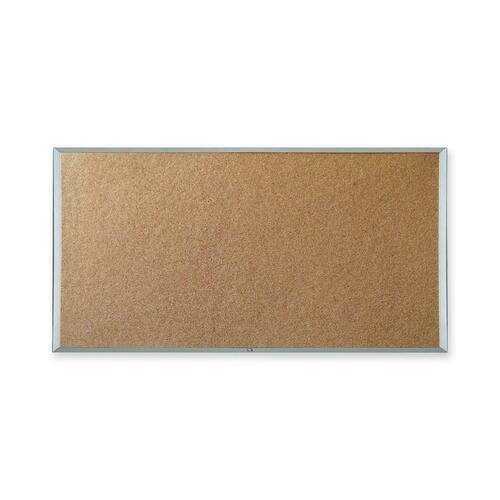 """Quartet Webco Bulletin Board - 24"""" (609.60 mm) Height x 36"""" (914.40 mm) Width - Cork Surface - Aluminum Frame - 1 Each"""