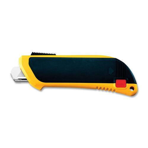 Olfa Flex-Guard Safety Knife - Refillable - Yellow, Black - 1 Each