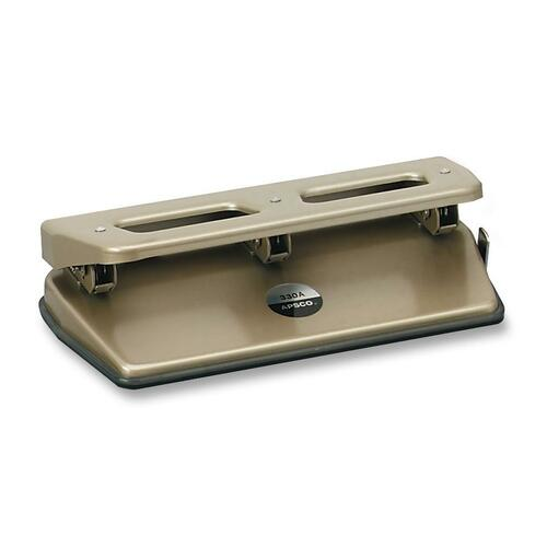 """Sanford Heavy Duty Paper Punch - 3 Punch Head(s) - 30 Sheet of 16lb Paper - 1/4"""" Punch Size"""