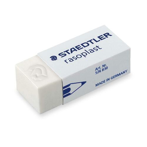 Staedtler Small Home/Office Eraser - White - Vinyl - 1 Each - Non-smudge, Non-smearing