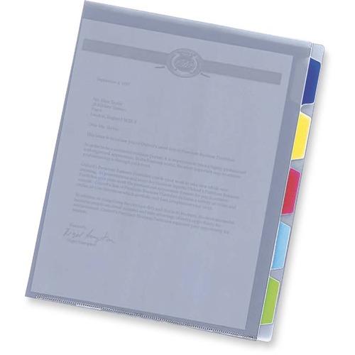 Pendaflex 1/5 Tab Cut Letter Top Tab File Folder - Polypropylene - Ice White - 1 Each