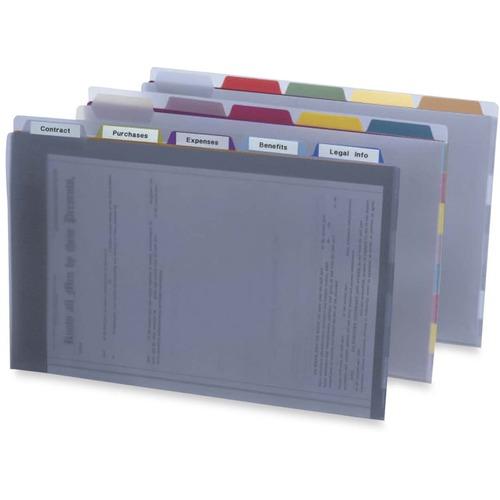 Pendaflex 1/5 Tab Cut Legal Top Tab File Folder - Polypropylene - Clear - 1 Each