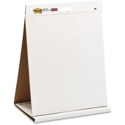 """3M Post-it Tabletop Easel Pad - 20 Sheets - Plain - 18 lb Basis Weight - 20"""" x 23""""20"""" (508 mm) - White Paper - Bleed Resistant - 1Each"""