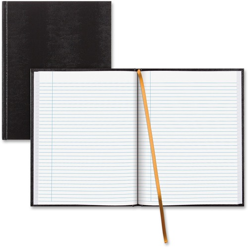 """Blueline Hardbound Executive Journal - 150 Sheets - Perfect Bound - Ruled - 11"""" x 8 1/2"""" - White Paper - Black Cover - Hard Cover - Recycled - 1Each"""