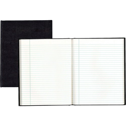 """Blueline Hardbound Executive Notebooks - 150 Sheets - Perfect Bound - Ruled - 9 1/4"""" x 7 1/4"""" - White Paper - Black Cover - Hard Cover - Recycled - 1Each"""