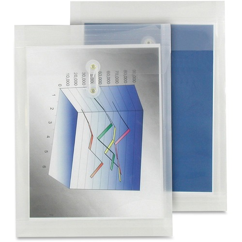 """Winnable Transparent Poly Inter-Department Envelope - Clasp - 9 1/2"""" Width x 13"""" Length - Poly - 1 Each - Clear"""