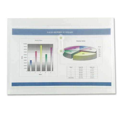 """Winnable Side-Open Inter-Department Poly Envelope - Clasp - 10 1/4"""" Width x 14 3/4"""" Length - Poly - 1 Each - Clear"""