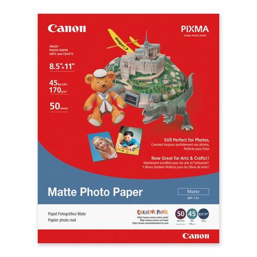 "Canon Photo Paper - White - Letter - 8 1/2"" x 11"" - Matte - 1 Each"