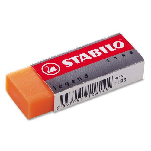 "Schwan-STABILO Legend Superior Plastic Eraser - Assorted - Plastic - 2.43"" (61.72 mm) Width x 0.43"" (10.92 mm) Height x 0.87"" (22.10 mm) Depth x - 1 Each"