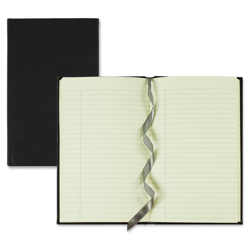 """Winnable Executive Journal with Bookmark - 152 Sheets - Sewn - 8"""" x 5"""" - Cream Paper - Textured - Ribbon Marker - 1Each"""