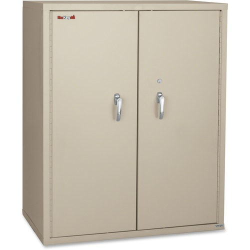"FireKing Storage Cabinet - 36"" x 19.3"" x 44"" - 2 x Shelf(ves) - Fire Resistant - Platinum"