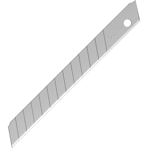 """Olfa Standard-Duty Replacement Blade - 0.35"""" (9 mm) Length - Snap-off - Steel - 10 / Pack"""
