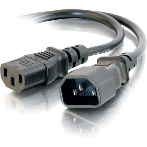 C2G 5ft 16 AWG 250 Volt Computer Power Extension Cord (IEC320C14 to IEC320C13)