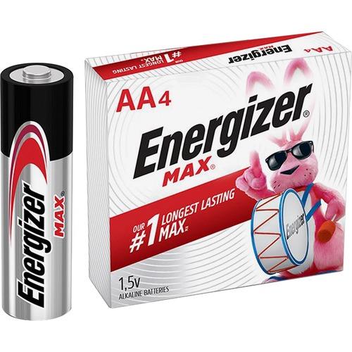 Energizer MAX Alkaline AA Batteries, 1 Pack - For Multipurpose - AA - 1.5 V DC - Alkaline - 144 / Carton