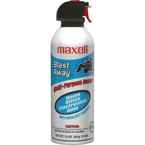 Maxell All-purpose Duster Canned Air - For Multipurpose - 10 fl oz - 1 Each - Blue, White