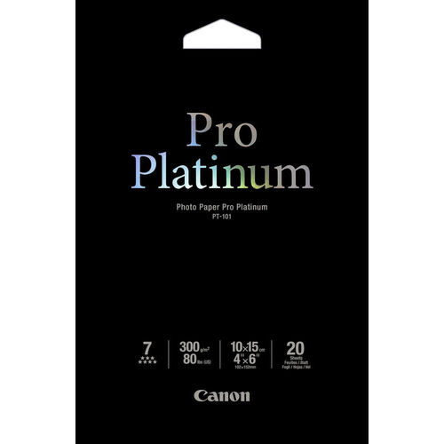Canon Pro Platinum 2768B013 Photo Paper - 100 mm x 150 mm - 20 x Sheet