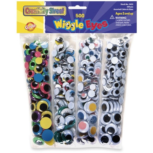 125-Piece Creativity Street Peel /& Stick Wiggle Eyes Assorted Sizes 343801