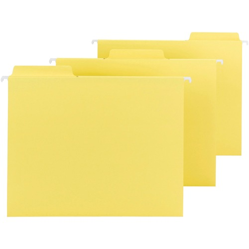 """Smead FasTab Hanging Folders - Letter - 8 1/2"""" x 11"""" Sheet Size - 1/3 Tab Cut - Top Tab Location - Assorted Position Tab Position - 11 pt. Folder Thic"""