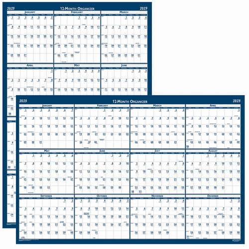 """House of Doolittle Recycled Laminated Reversible Planner - Professional - Julian Dates - Monthly - 1 Year - January 2021 till December 2021 - 24"""" x 37"""