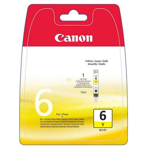 Canon BCI-6Y Ink Cartridge - Yellow