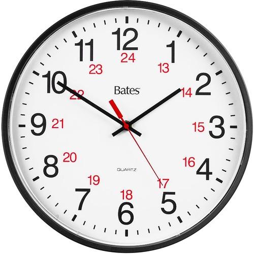 GBC 9847027 Bates 12/24 Quartz Wall Clock --GBC9847027