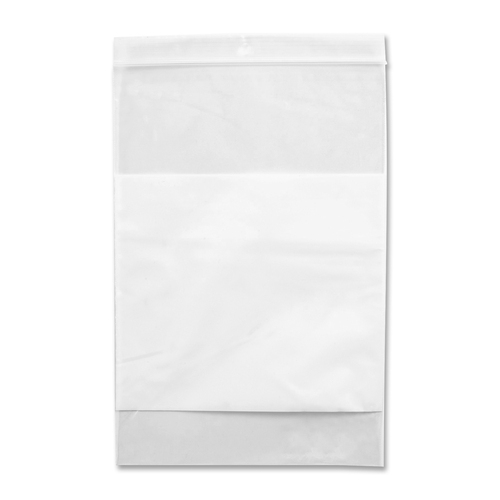 """Crownhill Reclosable Poly Bag - 9"""" (228.60 mm) Width x 6"""" (152.40 mm) Length x 2 mil (51 Micron) Thickness - Clear, White - 100/Pack - Food, Storage"""