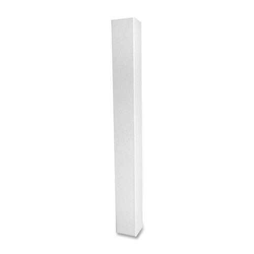 """Square Corrugated Mailing Tubes - 3"""" Width x 30"""" Length - 200 lb - White"""