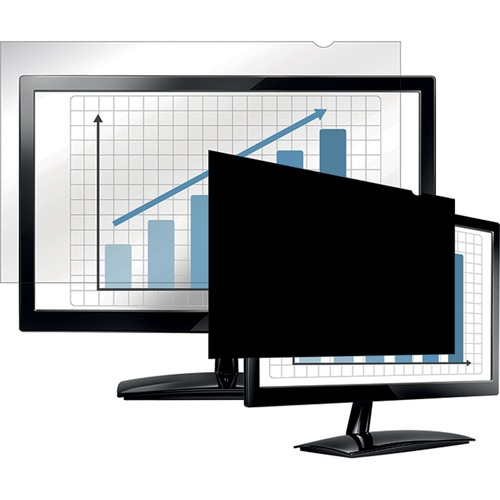 """Fellowes PrivaScreen™ Blackout Privacy Filter - 24.0"""" Wide - For 24"""" Widescreen LCD Notebook, Monitor - 16:10 - Dust-free, Scratch Resistant - B"""