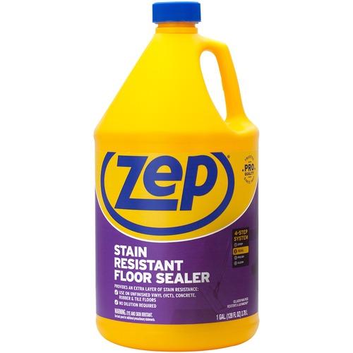 Zep Stain Resistant Floor Sealer - Liquid - 128 fl oz (4 quart) - 1 Each - Blue