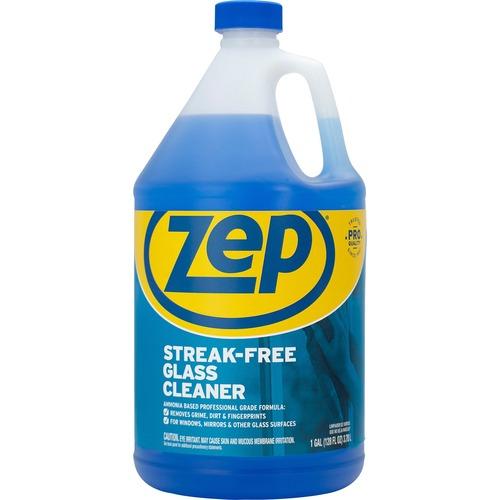 Zep Streak-free Glass Cleaner - Liquid - 128 fl oz (4 quart) - 1 Each - Blue