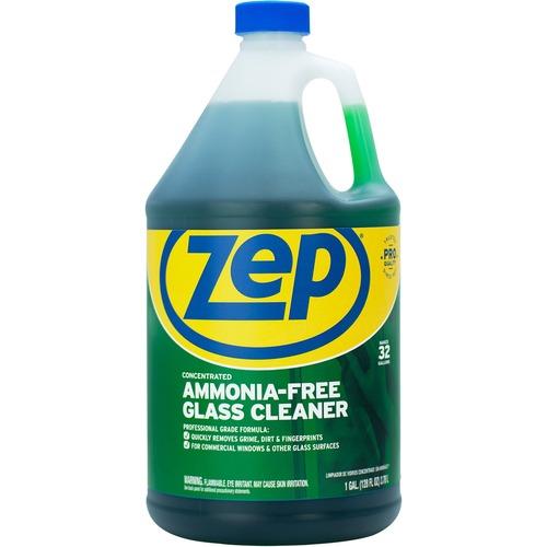 Zep Glass Cleaner Concentrate - Liquid - 128 fl oz (4 quart) - 1 Each - Green