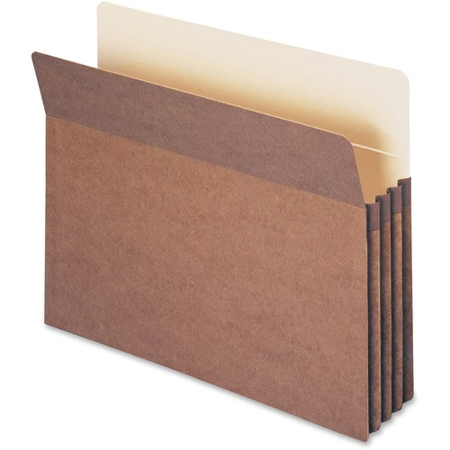 """Smead 100% Recycled File Pockets - Letter - 8 1/2"""" x 11"""" Sheet Size - 3 1/2"""" Expansion - Straight Tab Cut - Redrope - Redrope - 3.74 oz - Recycled - 2"""