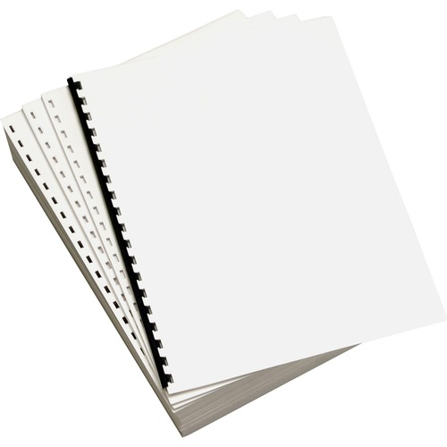 """Willcopy Custom Cut Punched Paper - Letter - 8 1/2"""" x 11"""" - 20 lb Basis Weight - 2500 / Carton - White"""