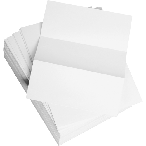 """Domtar 3.6"""" Microperforated Custom Cut Sheet - Letter - 8 1/2"""" x 11"""" - 20 lb Basis Weight - 2500 / Carton - White"""