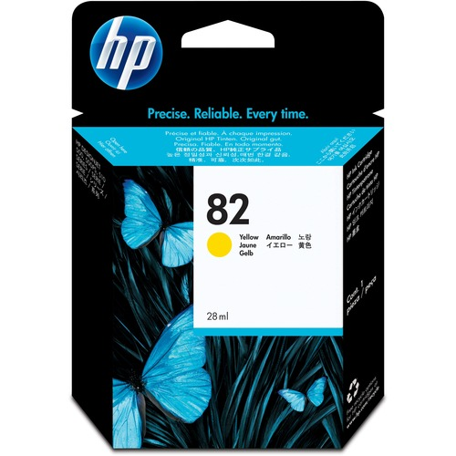 HP No.82 Yellow Ink Cartridge 28mL