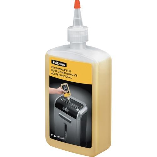 Fellowes Powershred® Shredder Oil - 12 Oz. Bottle - 340.2 g - Light Amber