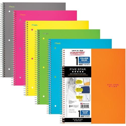 MeadWestvaco Five Star Notebook - 200 Sheet - Wide Ruled - 8