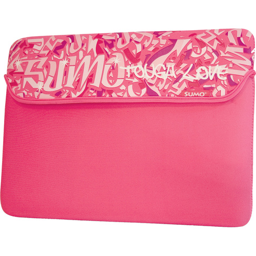 10 SUMO GRAFFITI NETBOOK NEOPRENE SLEEVE PINK