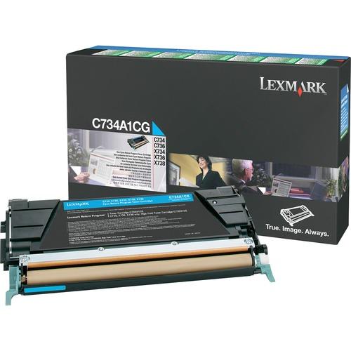 Lexmark Cyan Return Program Toner Cartridge