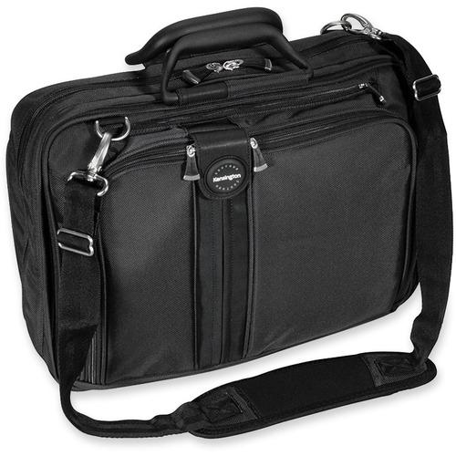 "Kensington Sky Runner Carrying Case Notebook - Black - Ballistic Nylon - Handle, Shoulder Strap - 12"" (304.80 mm) Height x 6.50"" (165.10 mm) Width x 16.50"" (419.10 mm) Depth - 1 Pack"