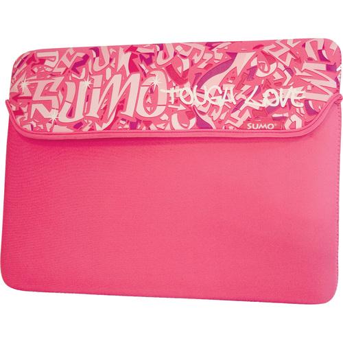 "15"" neoprene Graffiti Netbook Sleeve Pink- Mac"