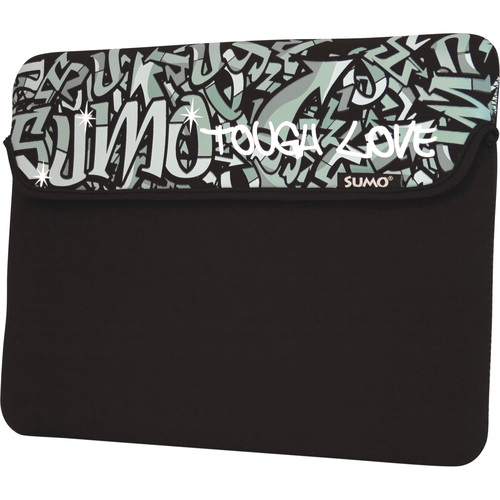 "13"" neoprene Graffiti Netbook Sleeve Black - Mac"