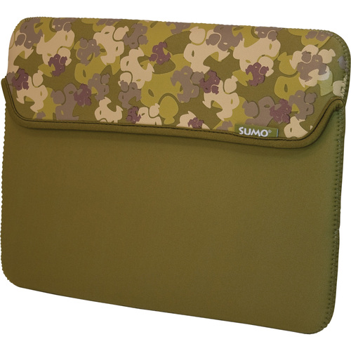 "13"" neoprene Camo Netbook Sleeve Green - Mac"
