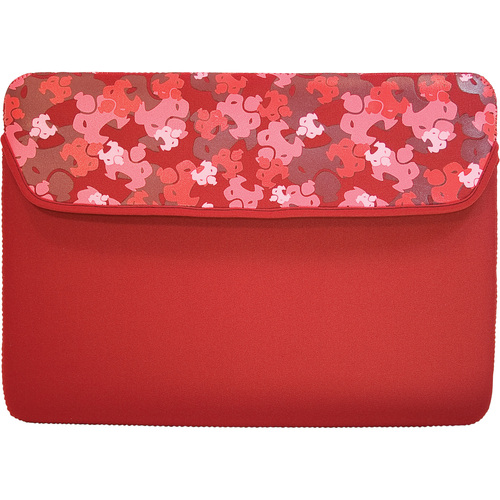 "13"" neoprene Camo Netbook Sleeve Red - Mac"